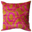 Rugs-USA-Ikat-Velvet-Silk-and-Cotton-Decorative-Pillow-Pink