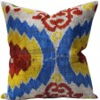 Rugs_USA_Ikat_Velvet_Silk_and_Cotton_Decorative_Pillow_Multi